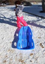 Slippery Racer Downhill Xtreme Toboggan Snow Sled-Blue-NEW