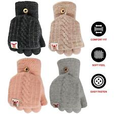 Womens Fingerless Half Capped 2 in 1 Gloves Ladies Winter Warm Combo Mittens