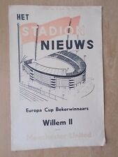 Willem II V Manchester United-EUROPEAN CUP WINNERS CUP programme 1963-64