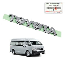 "Fits Toyota Hiace Commuter 2005 10 17 Badge Emblem Logo ""TOYOTA"" Chrome Genuine"