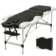 Portable Aluminum 3 Fold Massage Table Facial SPA Bed Tattoo w/Free Carry Case