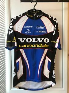 Vintage Cannondale Volvo Cycling Bike Jersey Shirt Large 3/4 Zip Size M