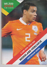 Programme / Programma Holland v Hungary 05-06-2010 friendly