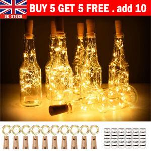 (Buy 5 Get 5 Free,add 10)Wine Bottle Fairy String Lights Battery Cork Party Led