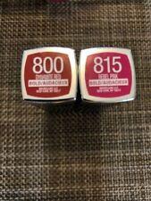 Lot of 2, Maybelline Color Sensational Bold, 800 Dynamite Red & 815 Rebel Pink