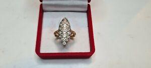 Marquise Or 750°°° Avec Diamant