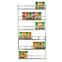 6 Layers Kitchen Spice Storage Rack Organizer Shelf Pantry Wall Mounted Hanging