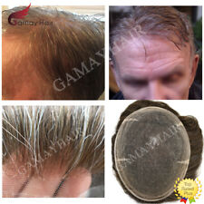 Full Swiss Lace Mens Toupee All Lace Hairpiece Natural Soft Hair Replacement Wig