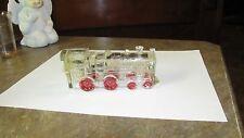 Antique Vintage Train Engine Locomotive Glass Candy Container Original Paint
