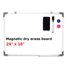 24x16 Magnetic Whiteboard Office Dry Wipe Drawing Amp Writing Erase Board School