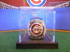 2016 Chicago Cubs World Series Championship Ring In Display Case