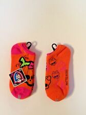 Ladies Socks New 2 Pair Monster High Orange Pink Goth Mattel Sz 9-11
