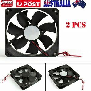 2PCS 12V 120x120x25mm 12cm dual Ball Bearing PC Brushless Cooling Fan 2Pin 120mm