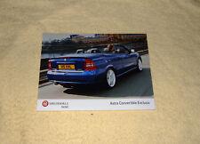 Vauxhall Astra Mk4 Exclusiv SE Convertible Press Photo, 2004