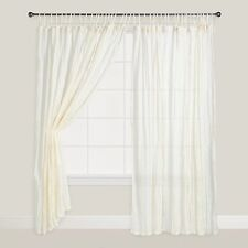 White Color Crinkle Cotton Voile Curtains Set of 2  from World  Market