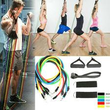 11PCS Heavy Duty RESISTANCE BAND TUBE Power Gym Exercise Yoga Training Fitness