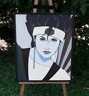 "Patrick Nagel ""Sushi Girl"",  (Reproduction) Painting, 24"" x 28.5"""