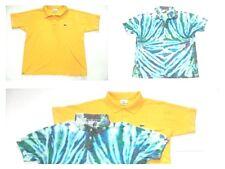 ✔Lot2🐊LACOSTE size 5 canary yellow & CALVIN KLEIN JEANS tye dye polo shirt sz S