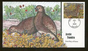 2003 Fairbanks Alaska - Arctic Tundra - Willow Ptarmigan - Collins FDC