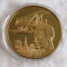 1st FLT Tour du monde 1924 44 mm bronze PROOF médaille-RAF Museum homme en vol
