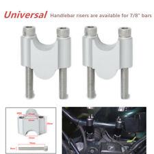 "Universal Motorcycle Handlebar Riser Kit Bar Clamp Mount For Standard 7/8"" Bars"