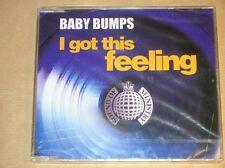 RARE CD MAXI 4 TITRES / BABY BUMPS / I GOT THIS FEELING / NEUF SOUS CELLO