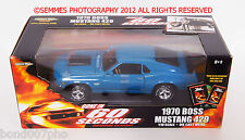 GONE IN 60 SECONDS 1970 BOSS 429 MUSTANG -Blue,Beautiful Free Shipping