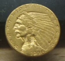 1926~ $2.50 Gold Indianhead Quarter Eagle~Vf-Xf-Beauty~Better Date