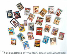 Miniature magazines Handmade 15  in a Grab Bag for dollhouse 1:12