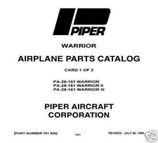 Piper Warrior II/III Parts Catalog PA-28-151 & PA-28-161 Part Number 761-538