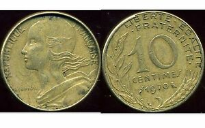 10 CT  1970  ( variete  FRAPPE FORTE  )