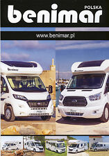 Fiat Ducato Ford Transit Benimar Model Range 2015  brochure motorhome caravan