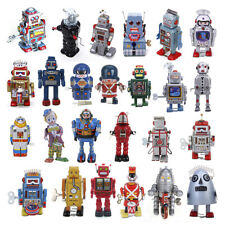 Mini Vintage Retro Tin Wind Up Robot Movable Toy for Kids & Adult Collector