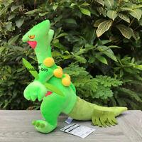 "Sceptile 13"" Plush Treecko Evolution Stuffed Toy Cartoon Soft Doll"