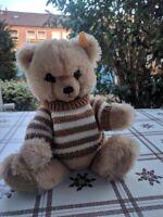 Steiff Petsy Teddy Bear Ean 012259 Blonde 11 Inch Button & Tag