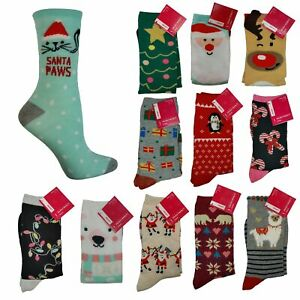 Christmas Holiday Themed Crew Socks - Various Styles - Women's Size 9 - 11 NWT