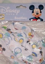 MICKEY MOUSE Baby Booties NEW white ~ FREE SHIP ~ MICKEY Mouse