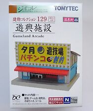 Tomytec N Scale 127  Gameland Arcade 1/150 Diorama Structure
