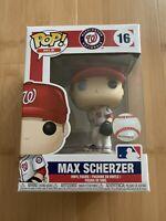 Funko Pop! MLB Washington Nationals Max Scherzer Home White Jersey