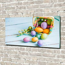 Tulup Glass Acrylic Print Wall Art Image 140x70cm - Easter eggs