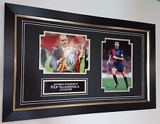 ** RARE Autographed Pep Guardiola BARCELONA Signed PHOTO Display ***