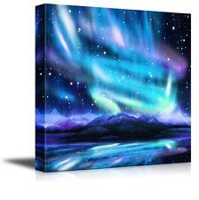 "Canvas Prints - Northern Lights ,aurora Borealis ,dramatic Landscape - 24"" x 24"""