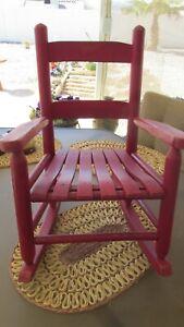 Vintage Solid Wooden Child Kids Rocker Rocking Chair