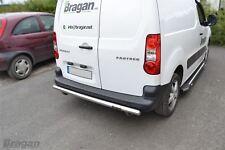 To Fit 08 - 16 Citroen Berlingo Stainless Steel Rear Back Bumper Guard Bar Van