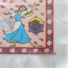 BEAUTY AND THE BEAST Roses SMALL NAPKINS (16) ~ Vintage Birthday Party Supplies