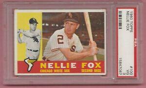 1960 Topps Nellie Fox #100 PSA 3 VG