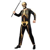 Men's Skeleton Suit Halloween Costume Adult Jumpsuit Morph Suits Cosplay Party