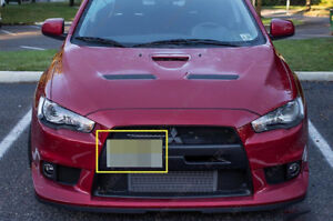 Mitsubishi Lancer Evolution License Plate Mounting Bracket Front Bumper Tow Hook