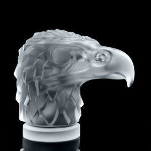 Art Deco Glass Car Mascot 'Head Eagle' Hood Ornament Figurine 1930' H.Hoffmann