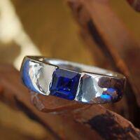 Saphir Ring in 900er Platin